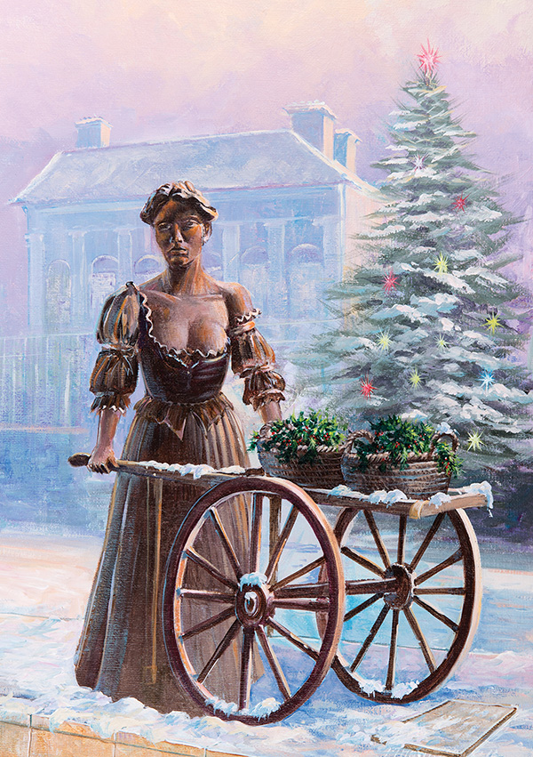 Irish Christmas Cards Molly Malone