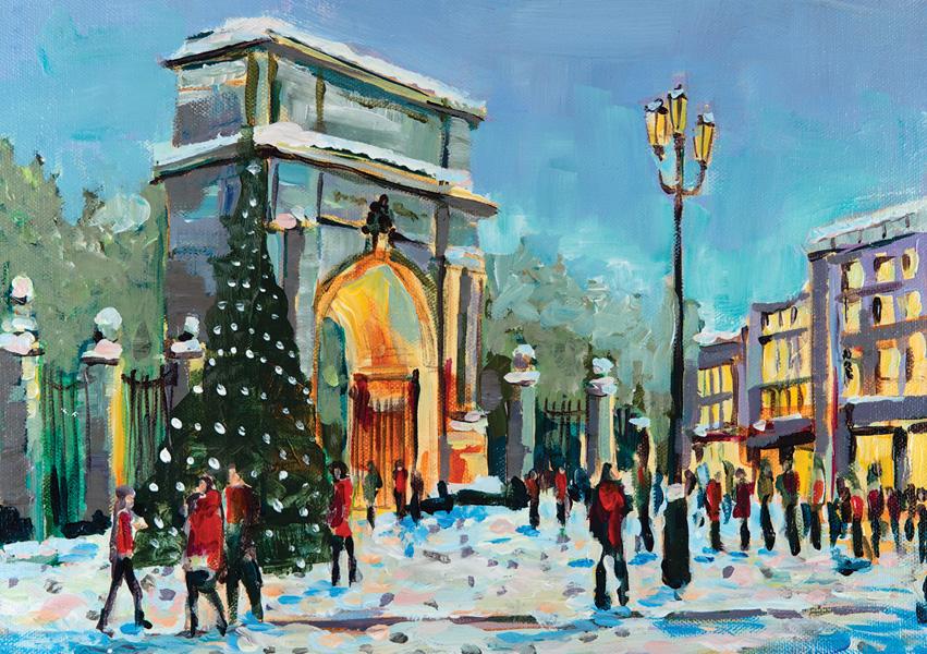 Irish Christmas Cards The-Fusiliers-Arch Dublin