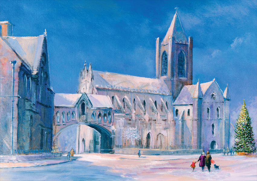 Irish Christmas Cards - Corporate Christmas Cards Christ-Church-Cathedral,