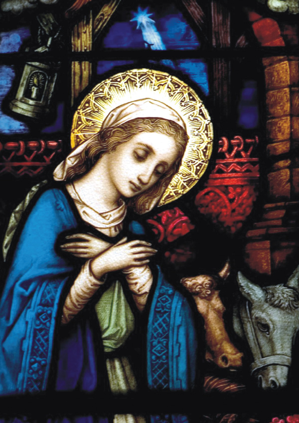 Irish Christmas Cards Phibsborough Church Window