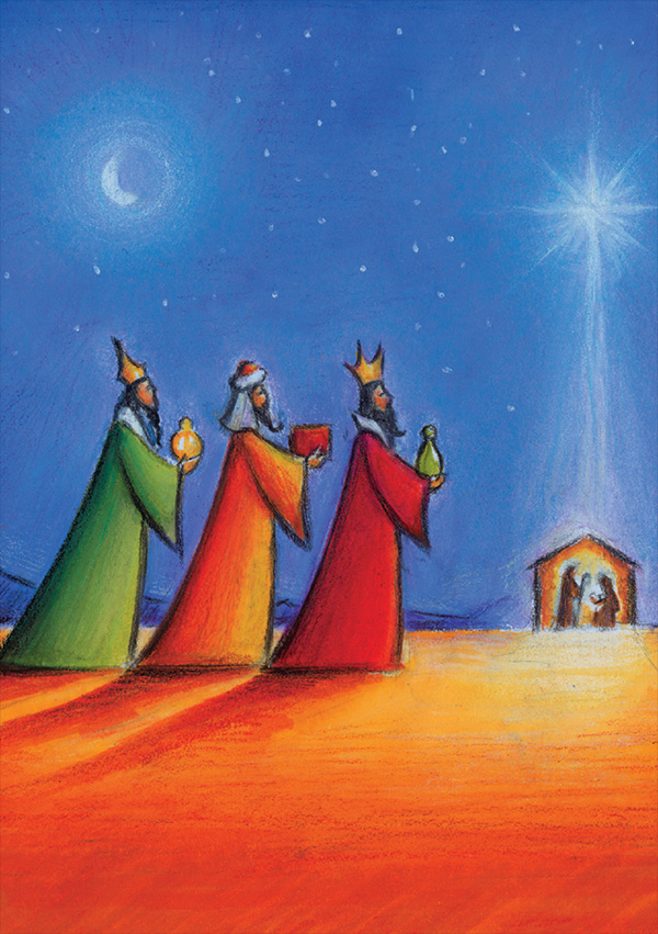 Irish Christmas cards The 3 Wise Men