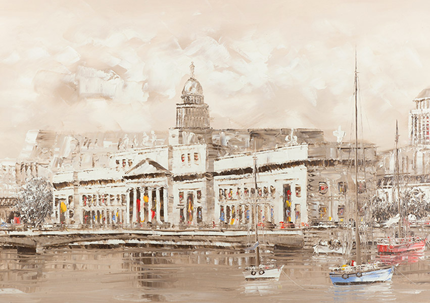 Irish Christmas Cards Custom House on the River Liffey