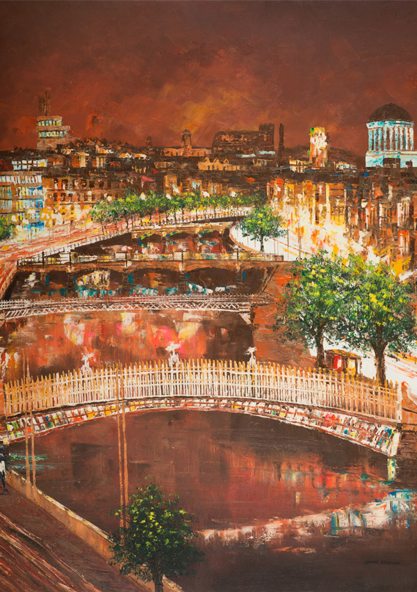 Irish Christmas Cards - Dublin Bridges