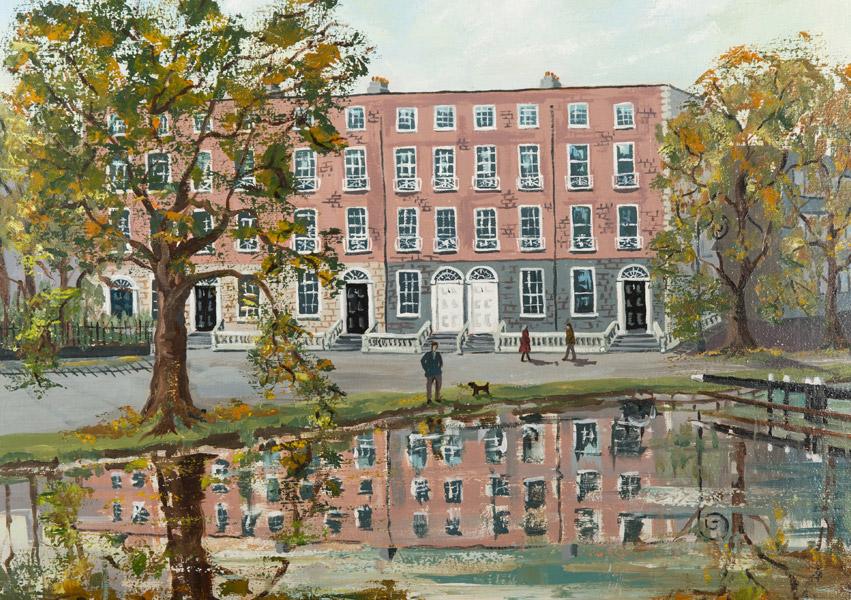 Irish Christmas Cards - Dublin Grand Canal