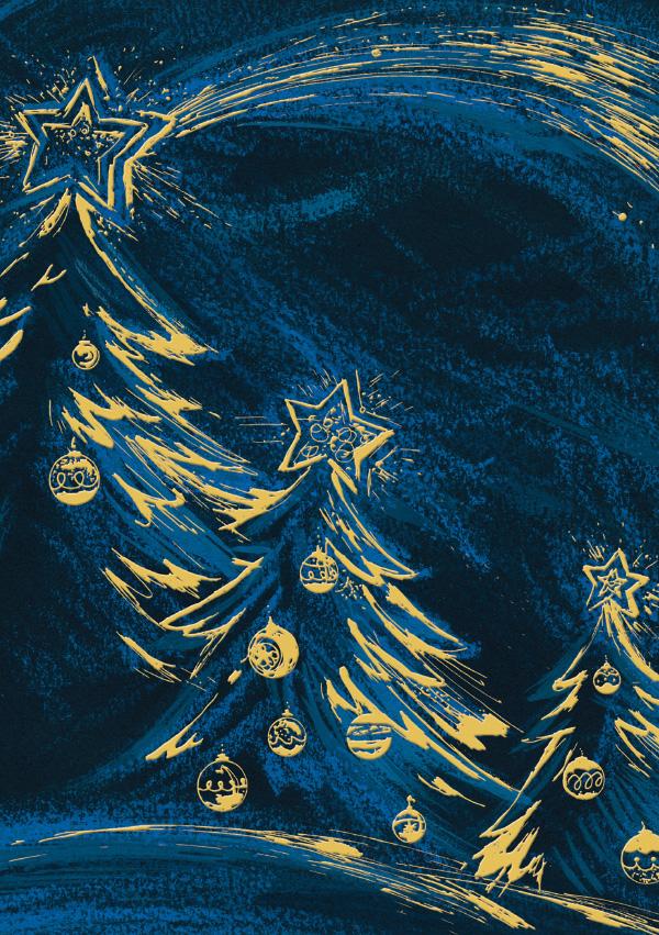 Christmas Trees at Night