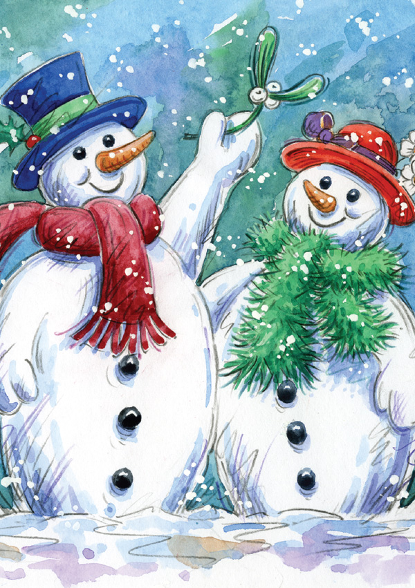 Snowmen and the Mistletoe